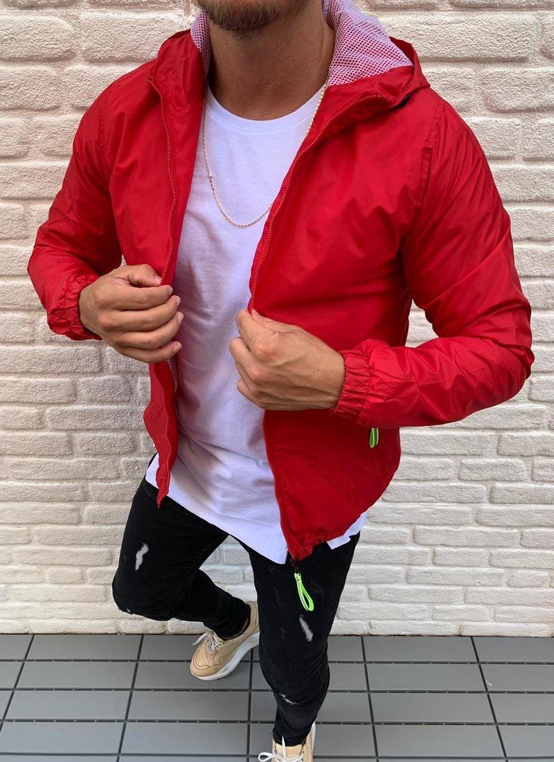 Мъжко спортно горнище в червен цвят
