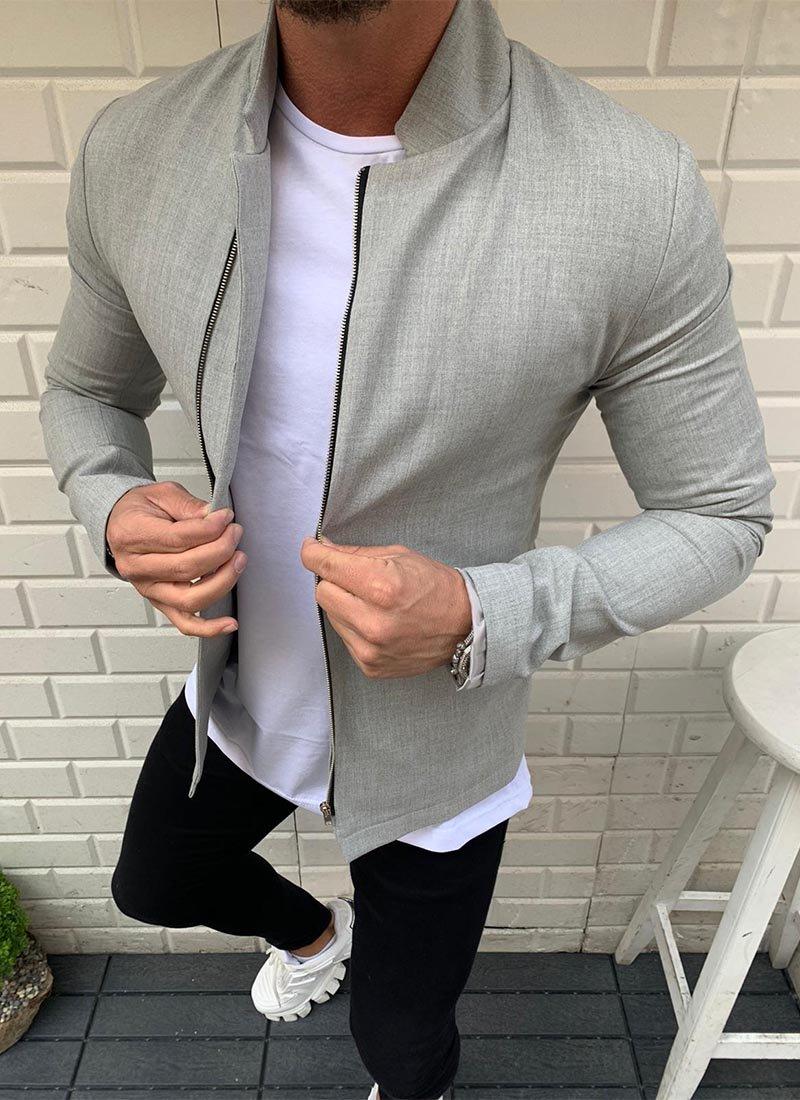 Мъжко яке в сив цвят
