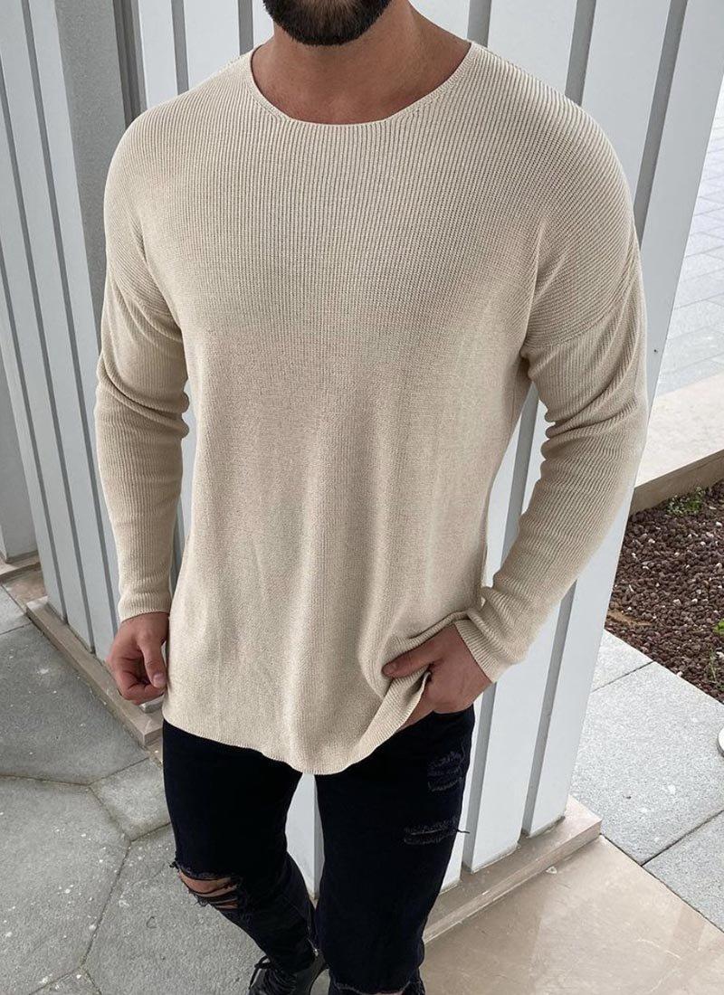 Мъжка блуза в бежов цвят