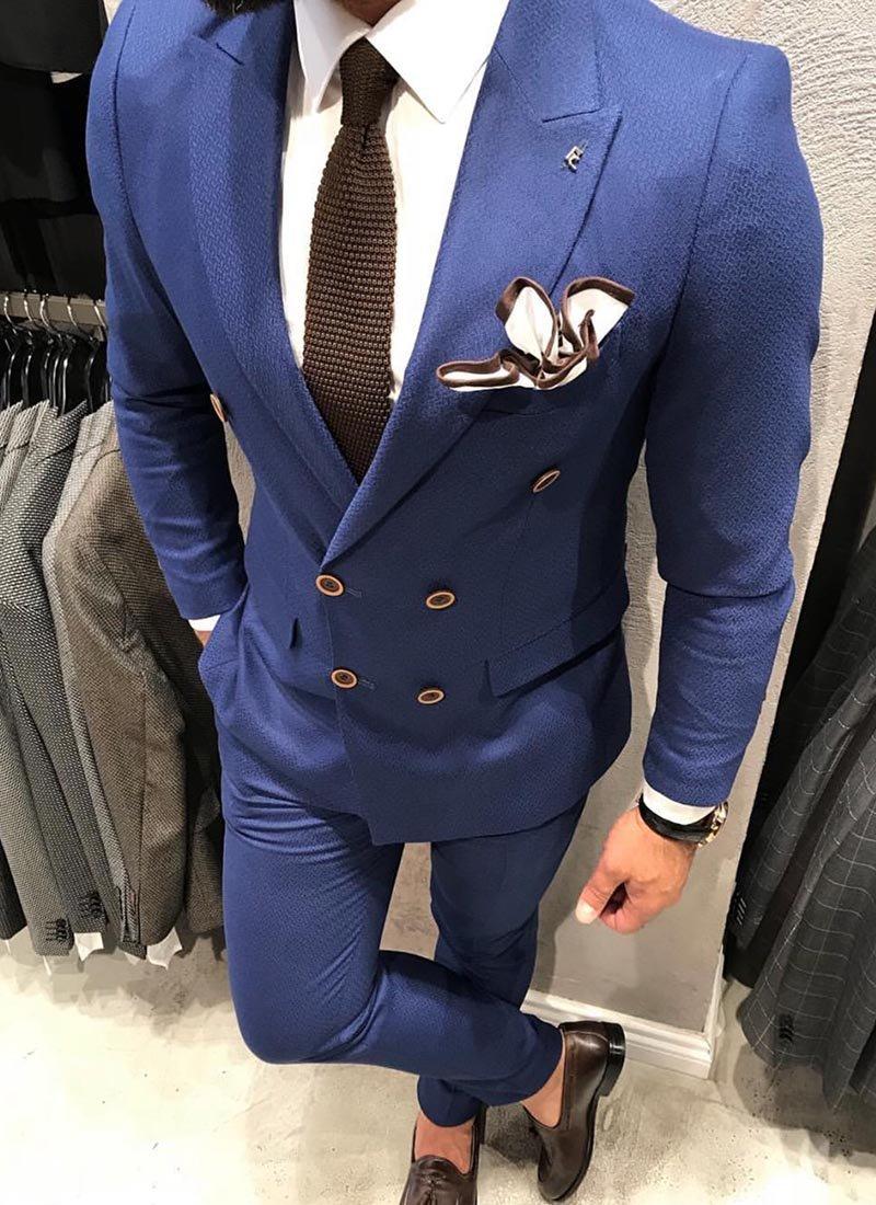 Мъжки втален син костюм