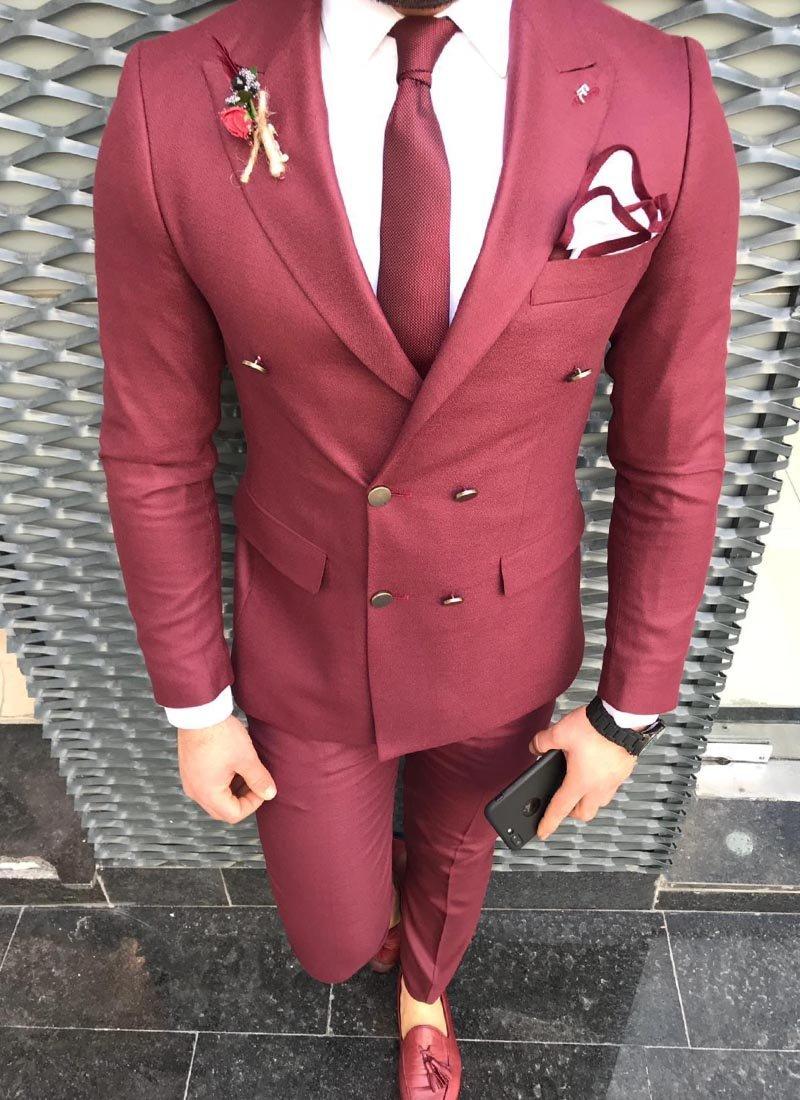 Мъжки втален костюм в червено