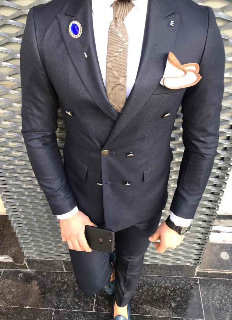 Мъжки втален костюм черен цвят