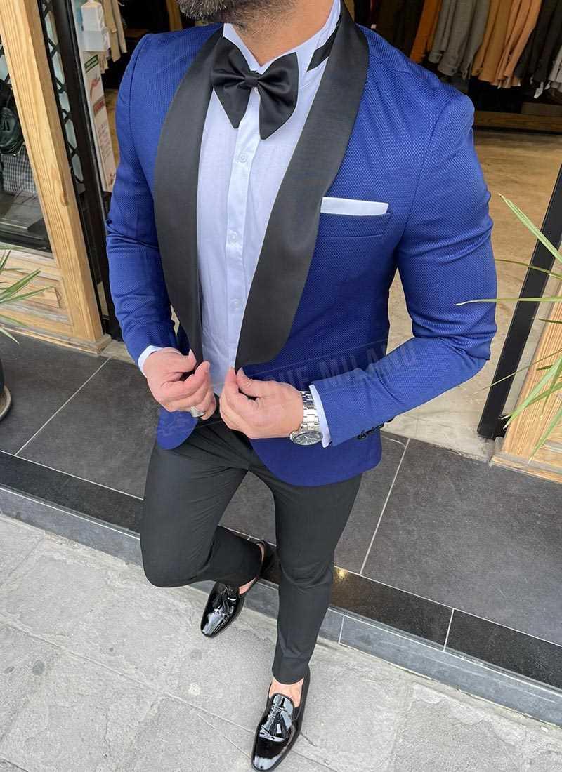 Мъжки втален смокинг син цвят