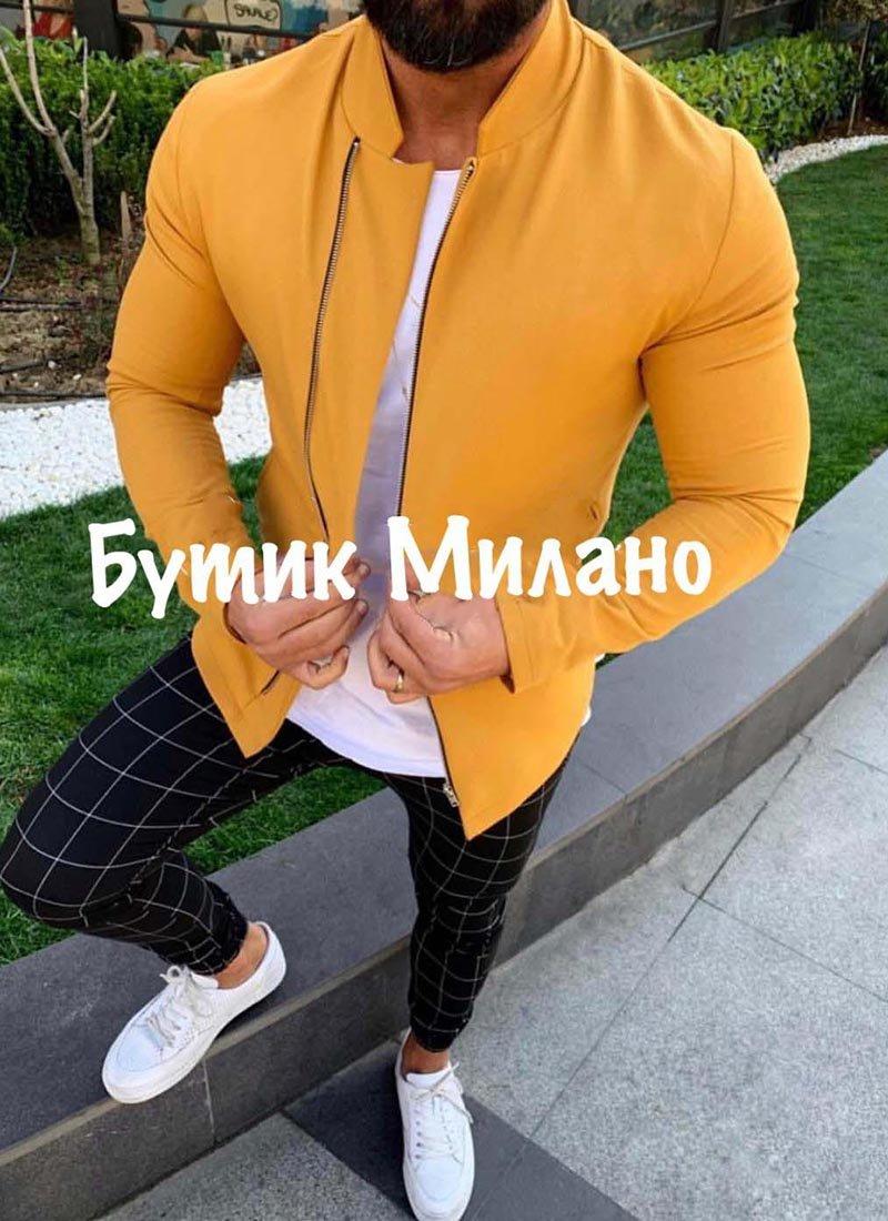 Мъжко яке в светло жълт цвят