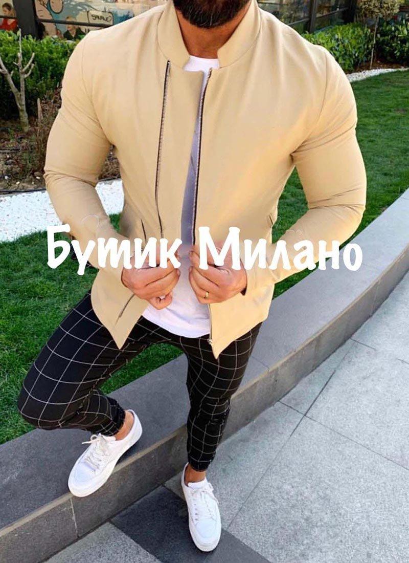 Мъжко яке в бежов цвят