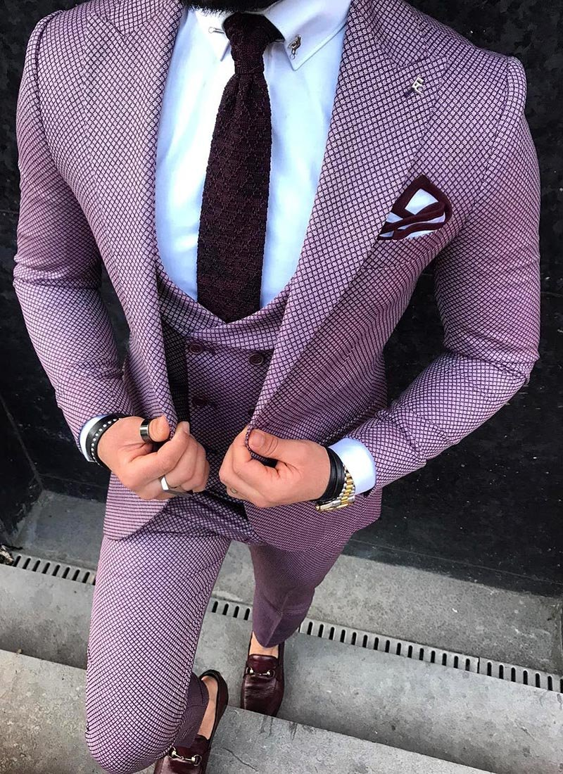 Мъжки втален костюм в розов цвят 3861-2