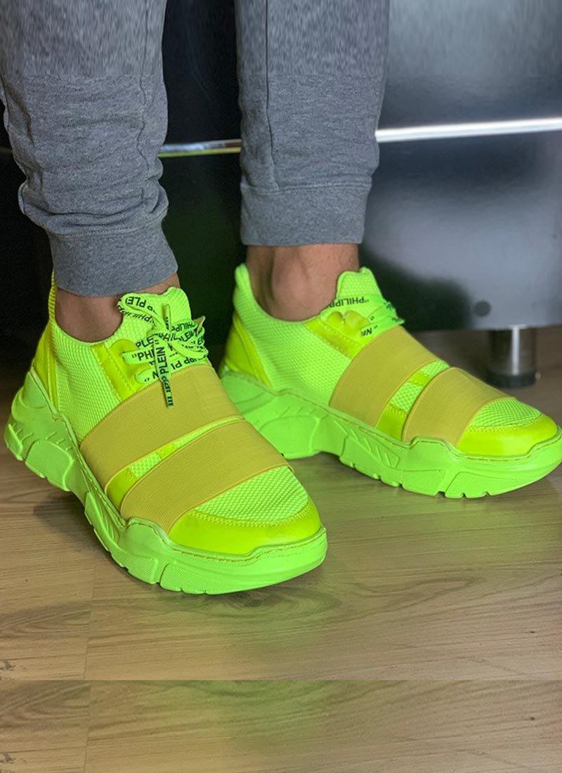 Мъжки ежедневни обувки неонов цвят О134