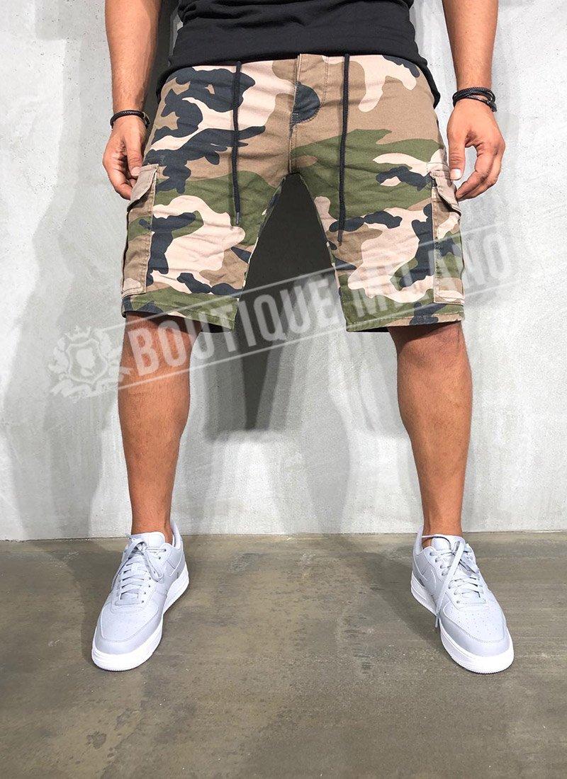 Мъжки къси дънки камуфлаж КД43