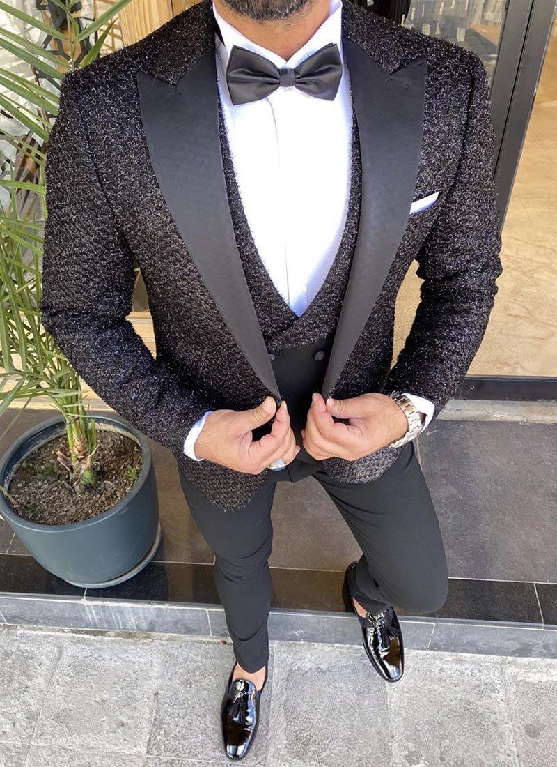 Мъжки втален смокинг в черен цвят 3941