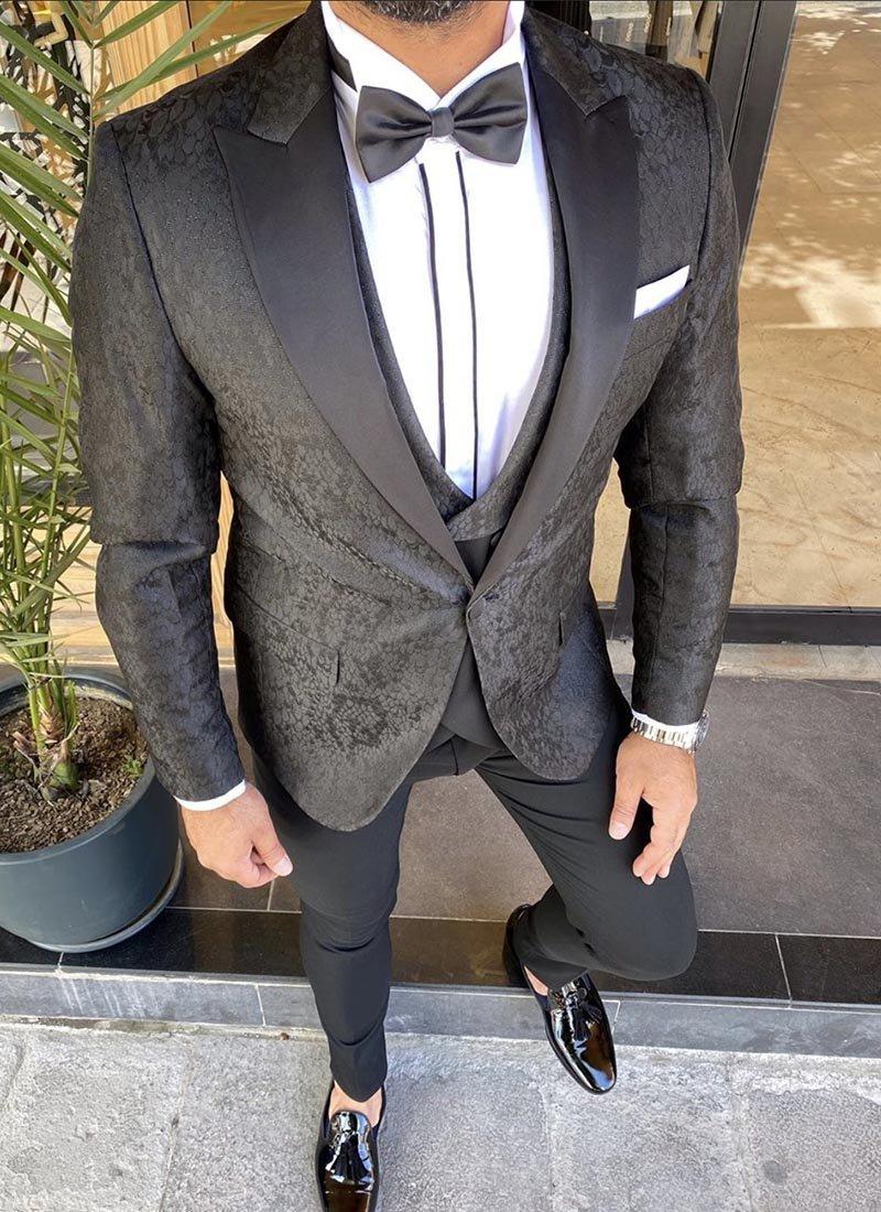 Мъжки втален смокинг черен цвят