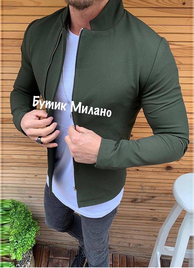 Мъжко яке в зелен цвят