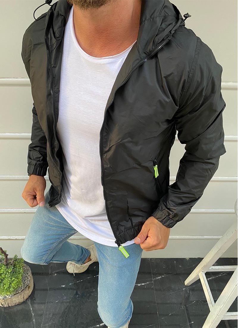 Мъжко яке в черен цвят К142
