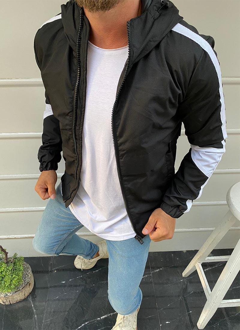 Мъжко яке черен и бял цвят