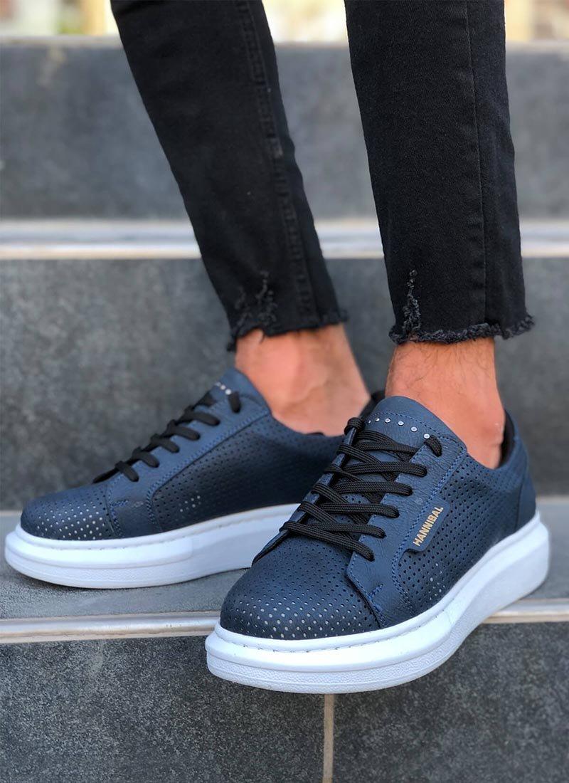 Мъжки обувки тъмно син цвят HNB-100-NA