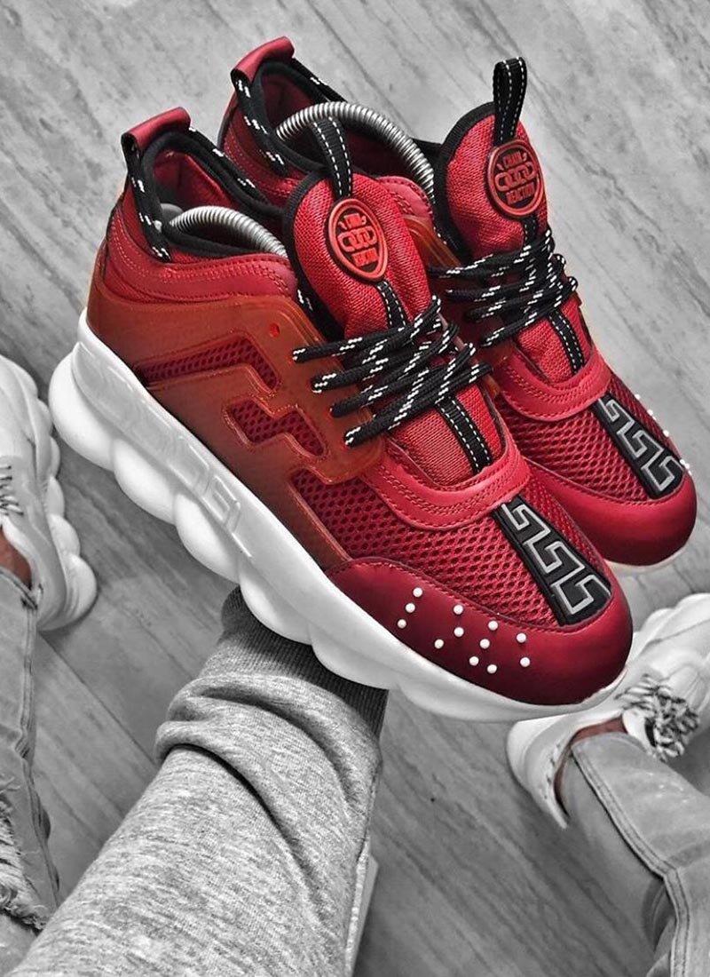 Мъжки ежедневни обувки червен цвят VR168