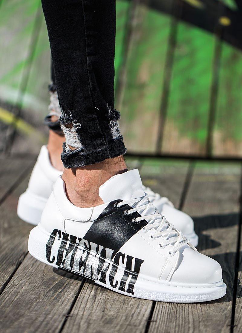 Мъжки обувки бял и черен цвят CH254-422