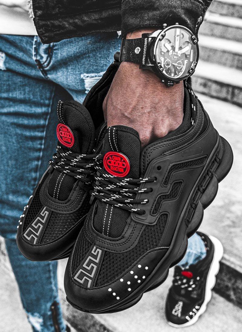 Мъжки ежедневни обувки в черен цвят VR103