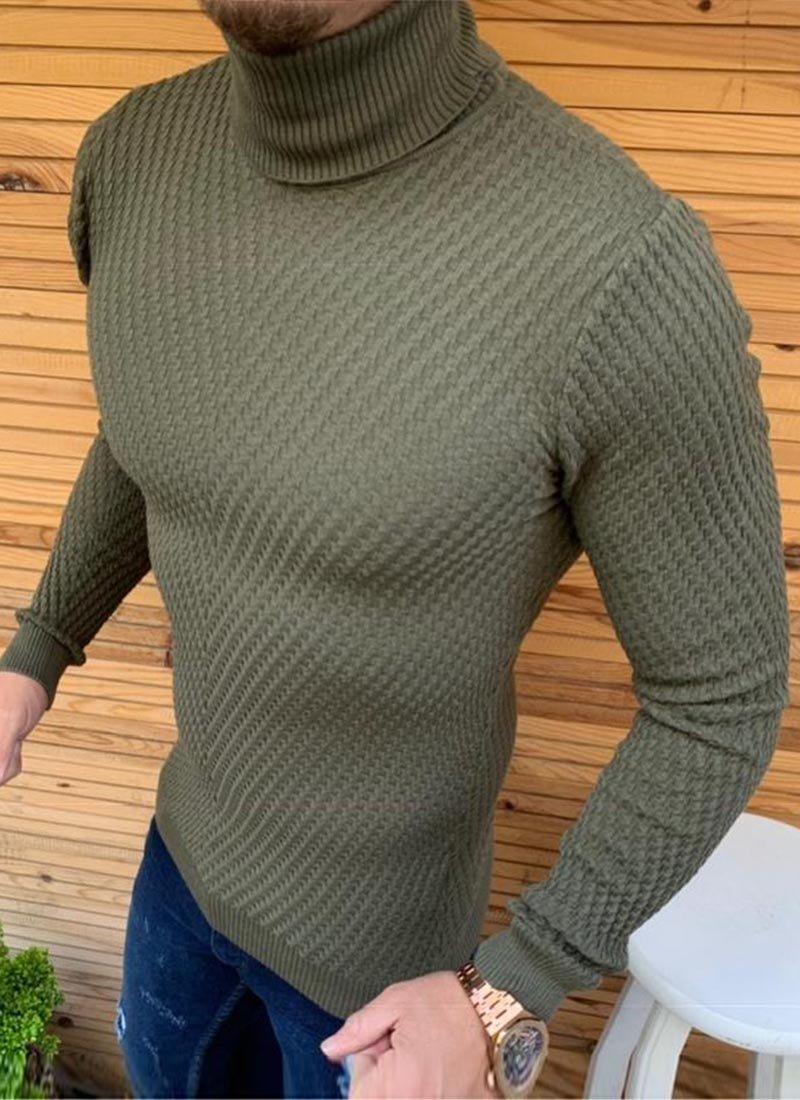 Мъжка блуза светло зелен цвят поло Б1956-5