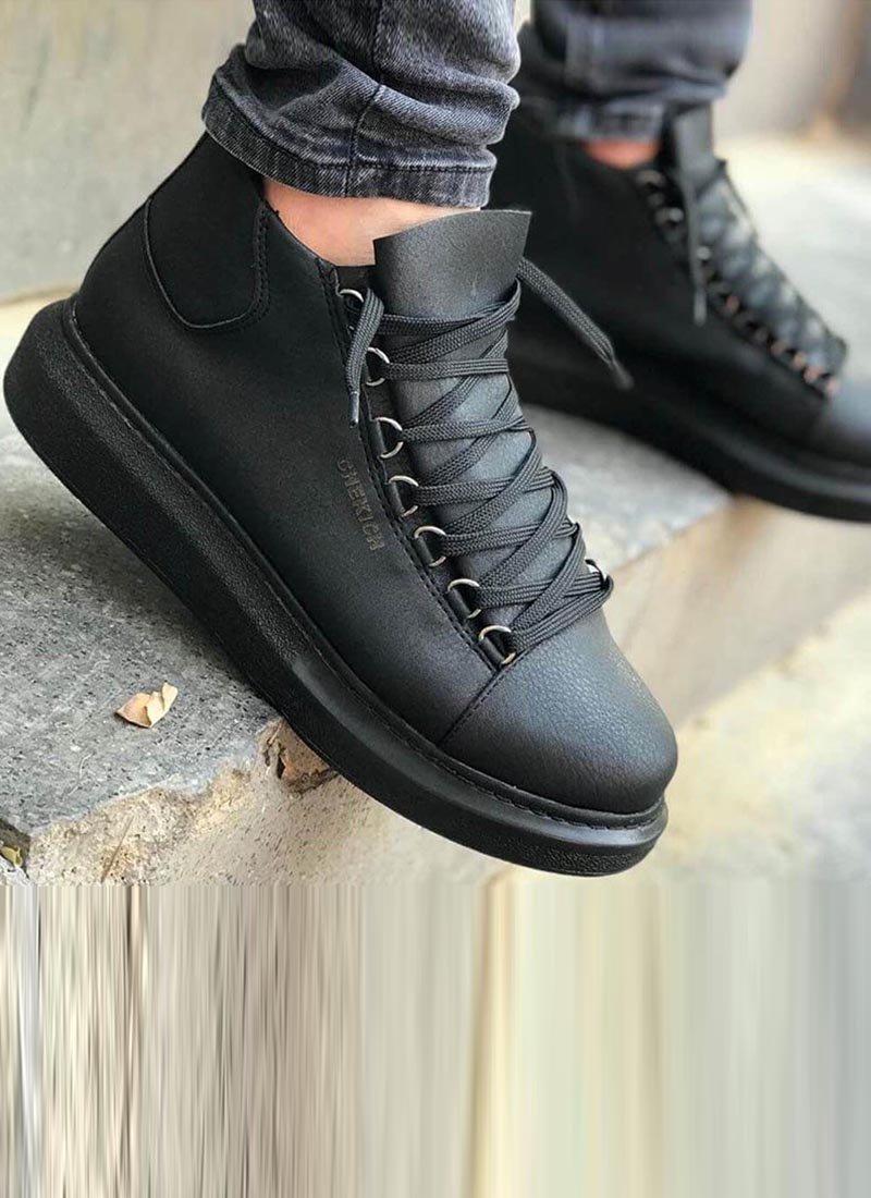 Мъжки високи обувки в черен цвят CH258-SH