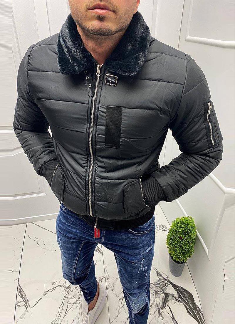Мъжко яке в черен цвят К7803-2