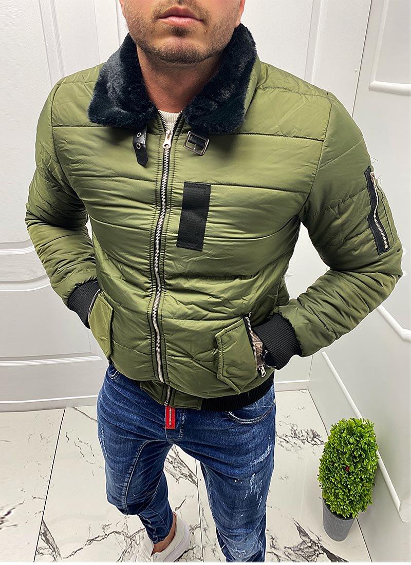 Мъжко яке в зелен цвят К7803-3