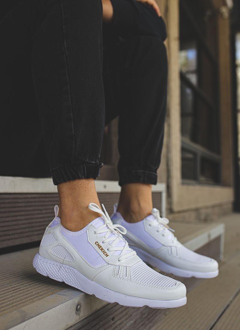 Мъжки ежедневни бели спортни обувки