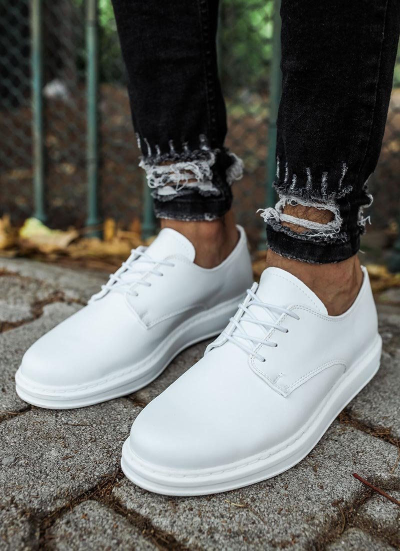 Мъжки ежедневни обувки бял цвят CH003-BZ