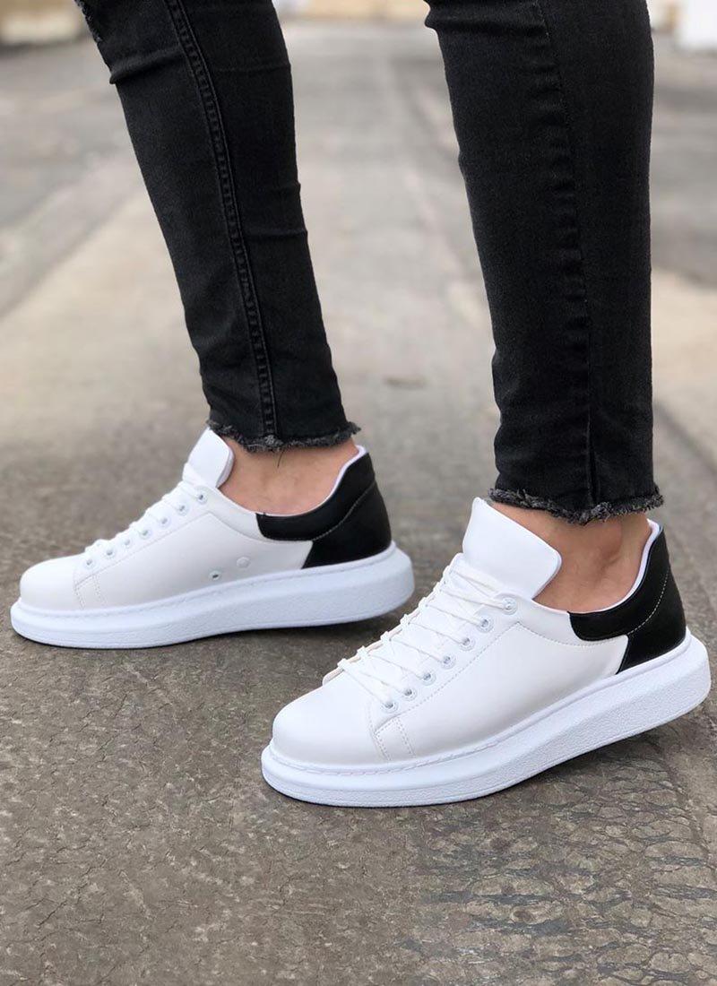 Мъжки ежедневни обувки бяло и черно CH256-BZSH