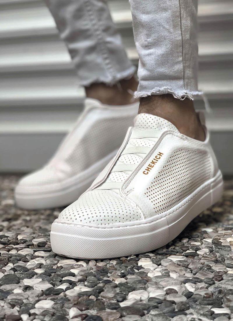 Мъжки обувки в бял цвят CH011-BZ