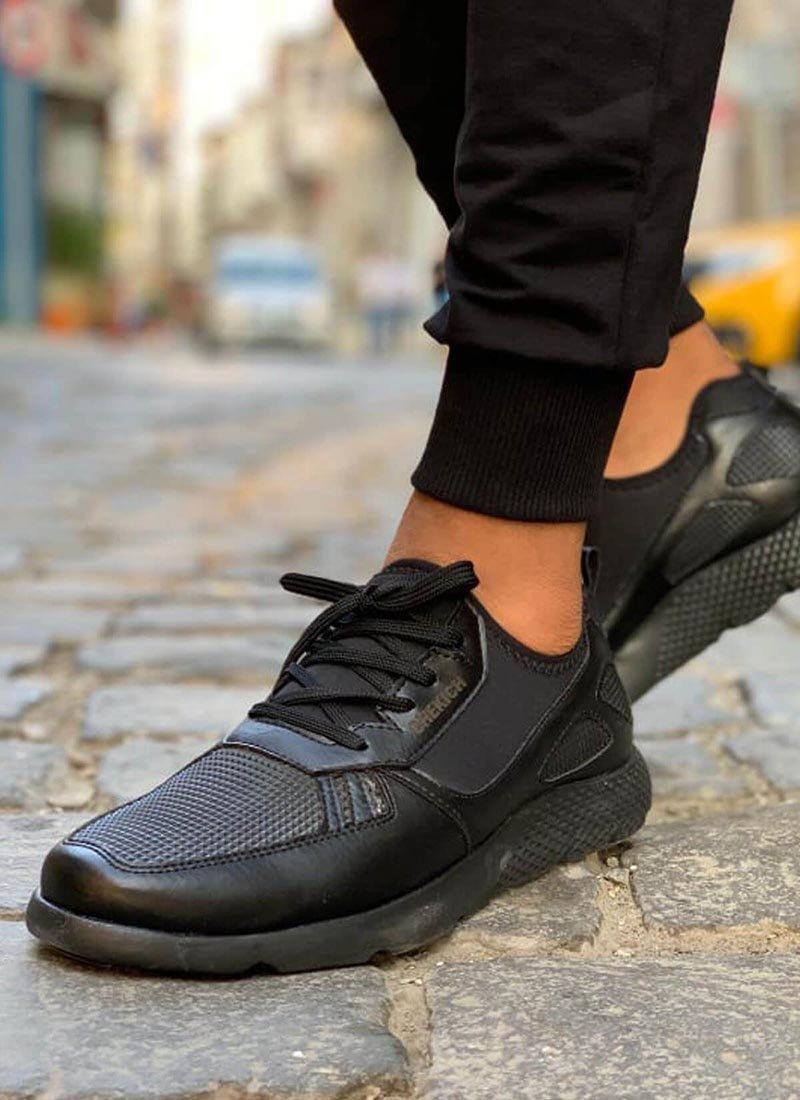 Мъжки спортни черни ежедневни обувки CH019-SH