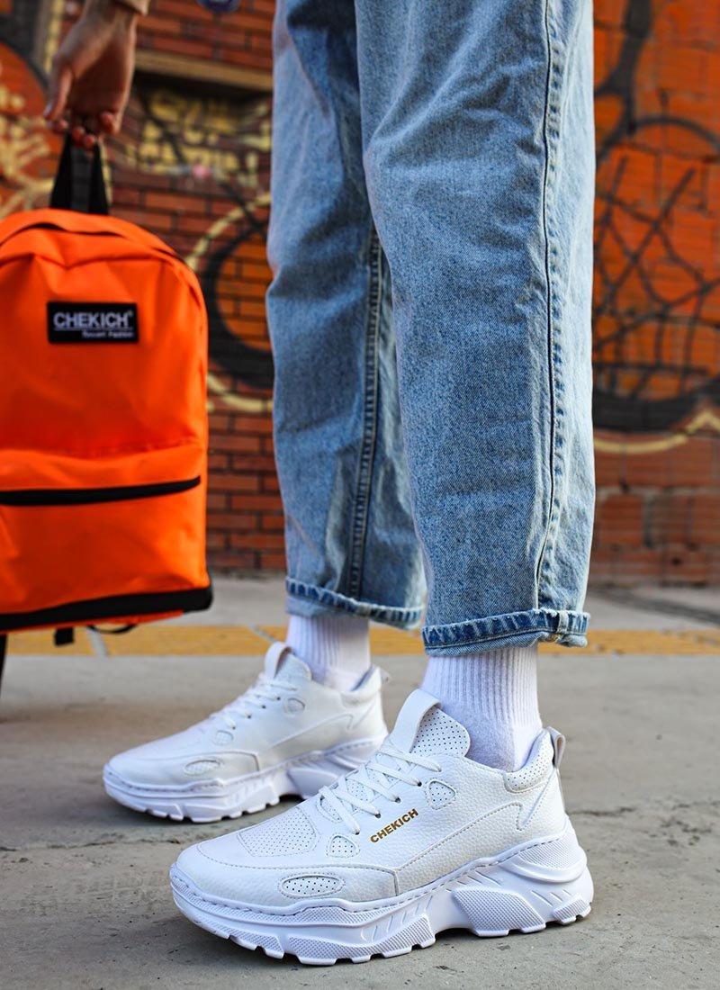 Мъжки ежедневни обувки в бял цвят CH089-BZ