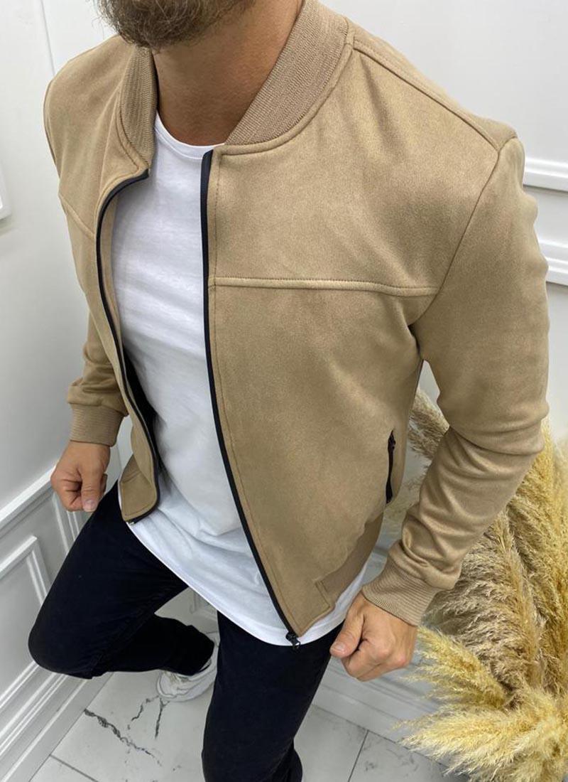Мъжко светло кафяво велурено яке