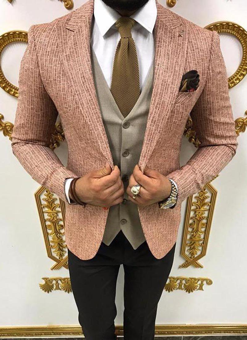 Мъжки костюм пепел от рози 3931-2