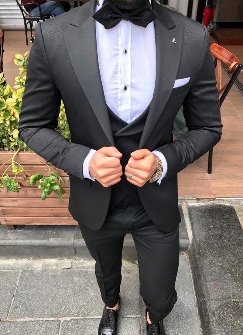 Мъжки втален смокинг в черно