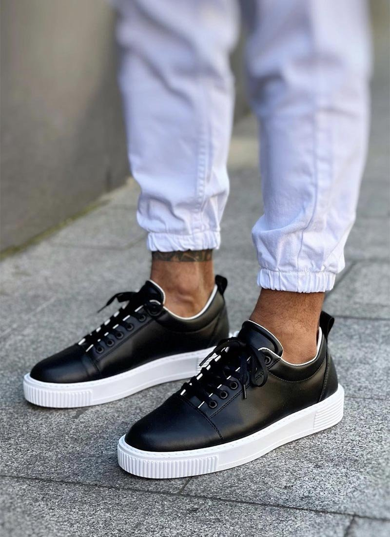 Мъжки ежедневни черни обувки