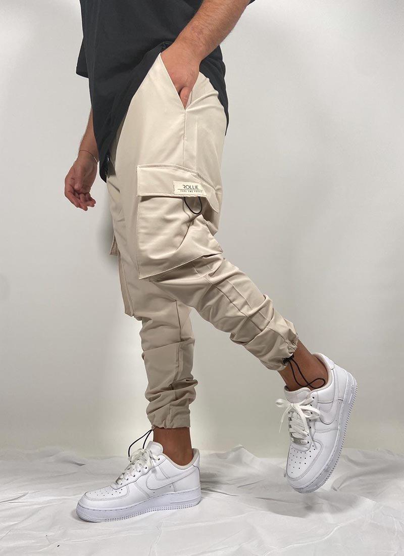 Мъжко бежово долнище странични джобове С25003-2