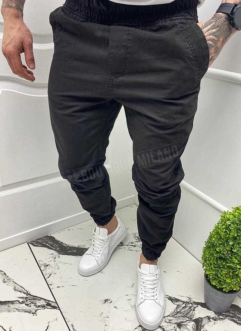 Мъжки дънки спортни в черен цвят А5124-1
