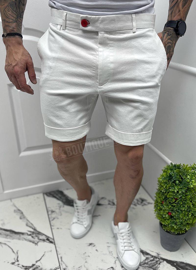 Мъжки къси бели панталони изчистени