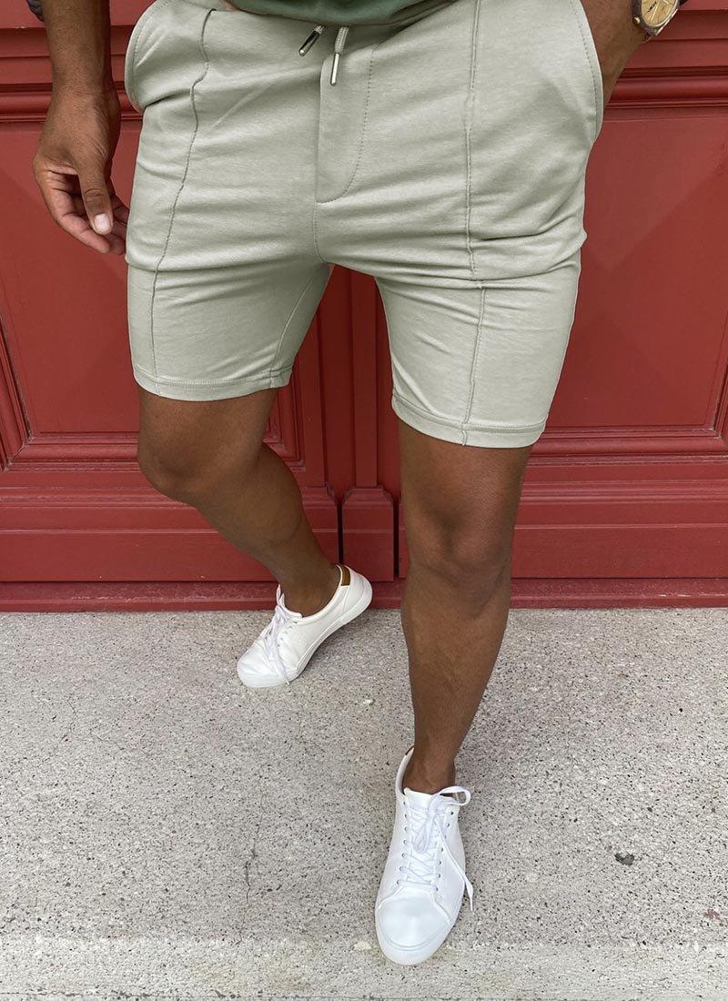 Мъжки къси панталони в сив цвят