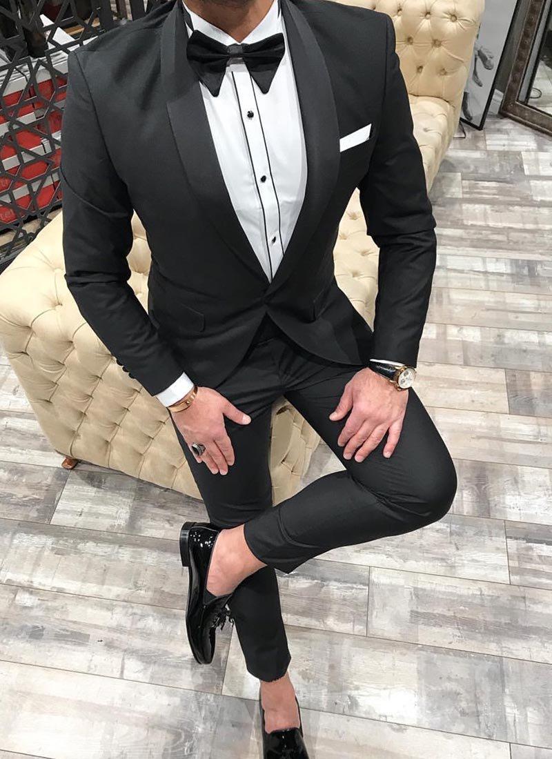 Мъжки втален костюм в черно