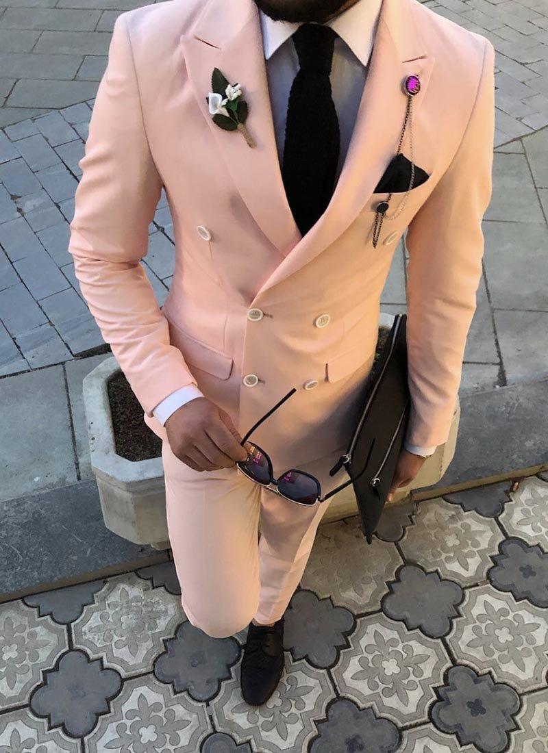 Мъжки втален костюм в розов цвят