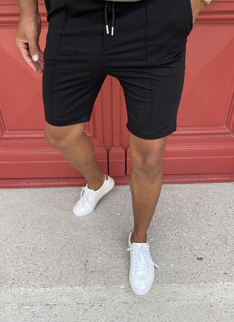 Мъжки къси панталони в черен цвят