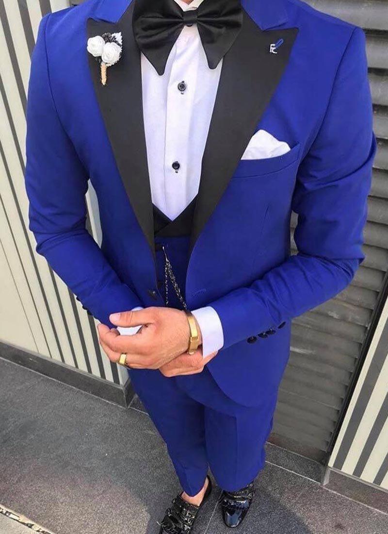 Мъжки втален смокинг в синьо