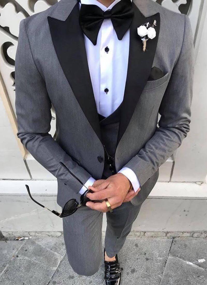 Мъжки втален смокинг в сивo
