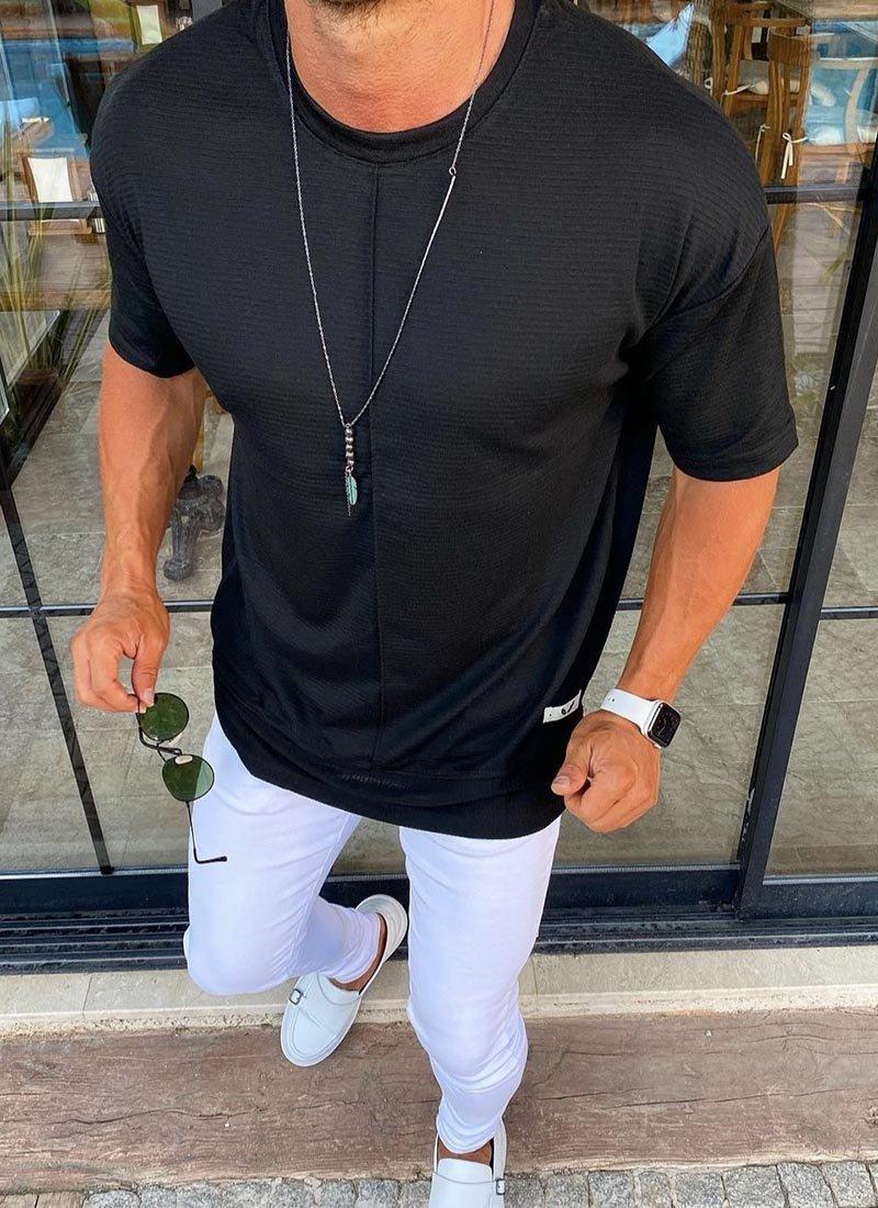 Мъжка тениска в черен цвят