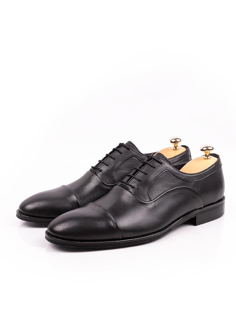 Мъжки елегантни черни обувки с връзки