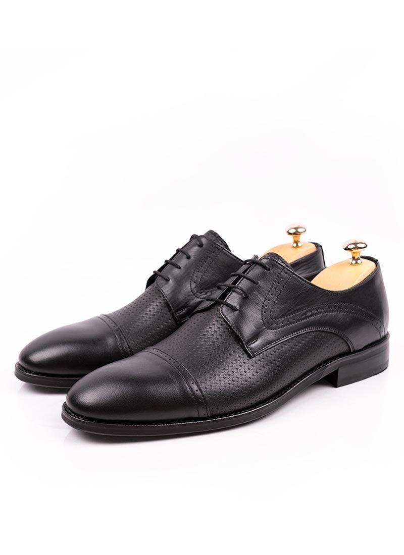 Мъжки черни елегантни обувки с връзки