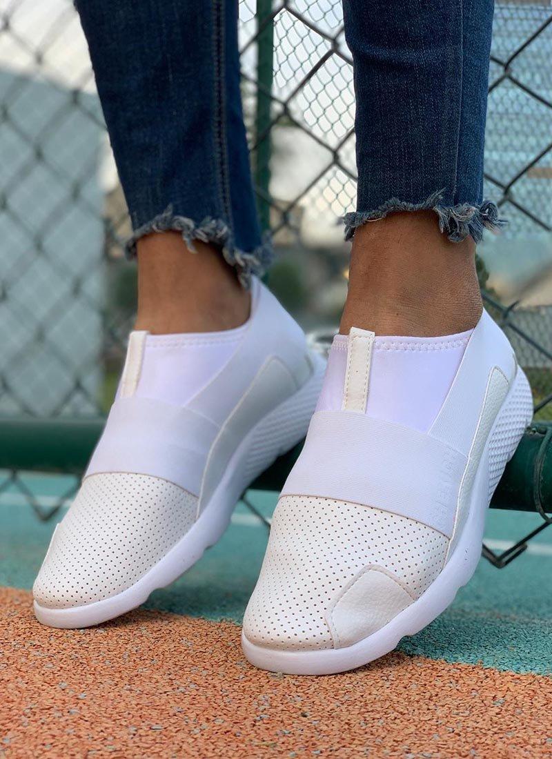 Мъжки обувки в бял цвят без връзки