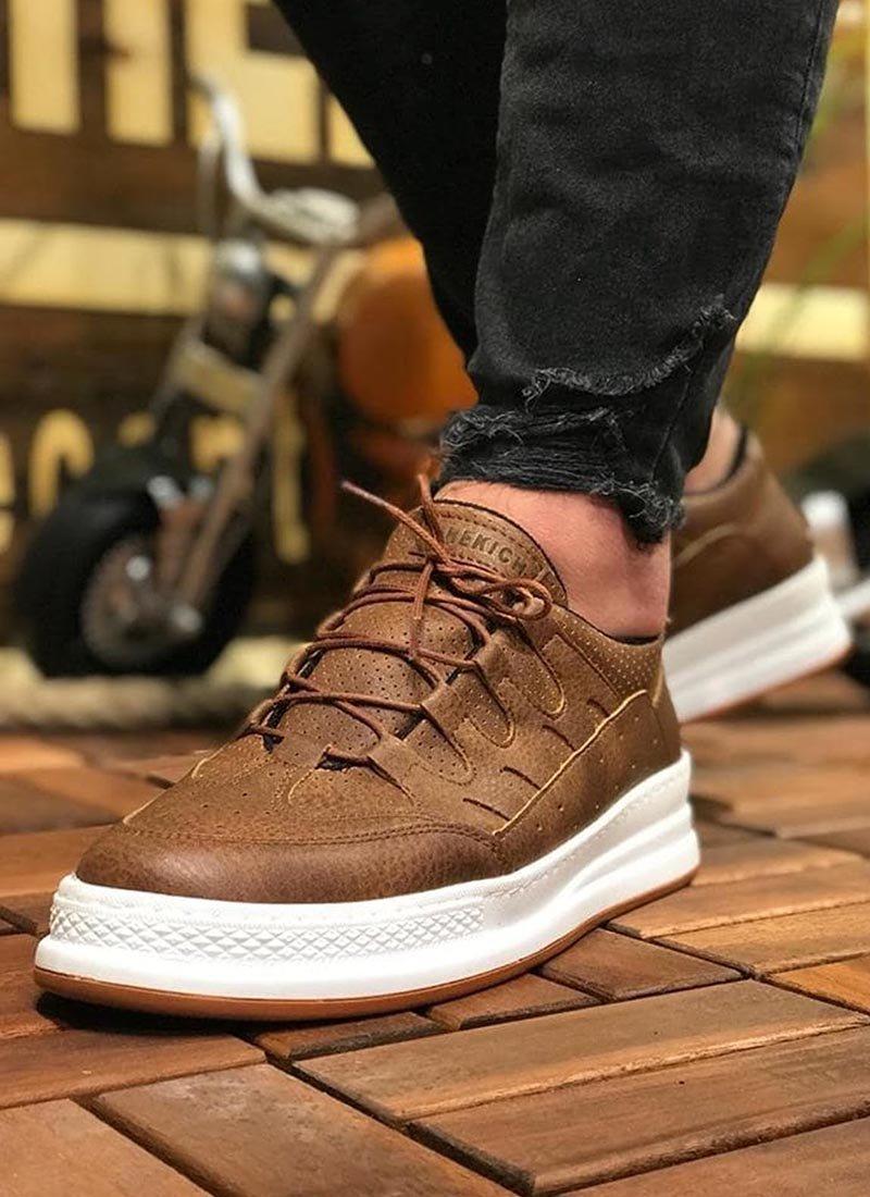 Мъжки ежедневни кафяви обувки