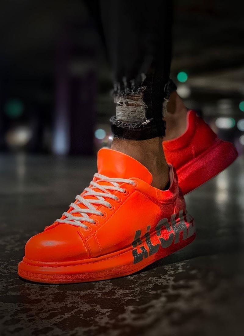 Мъжки ежедневни обувки в оранжево